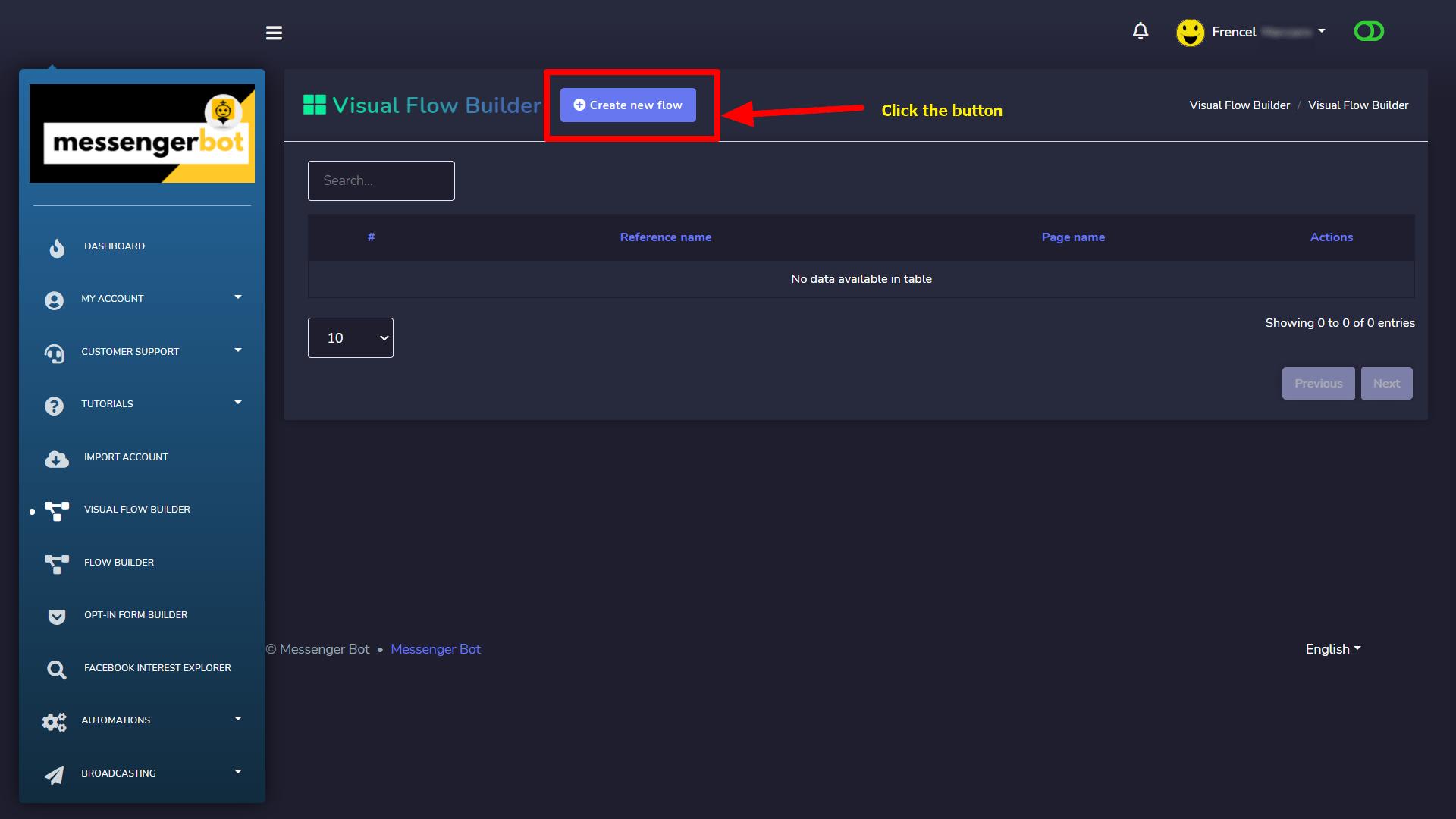 Messenger Bot - Visual Flow Builder 2
