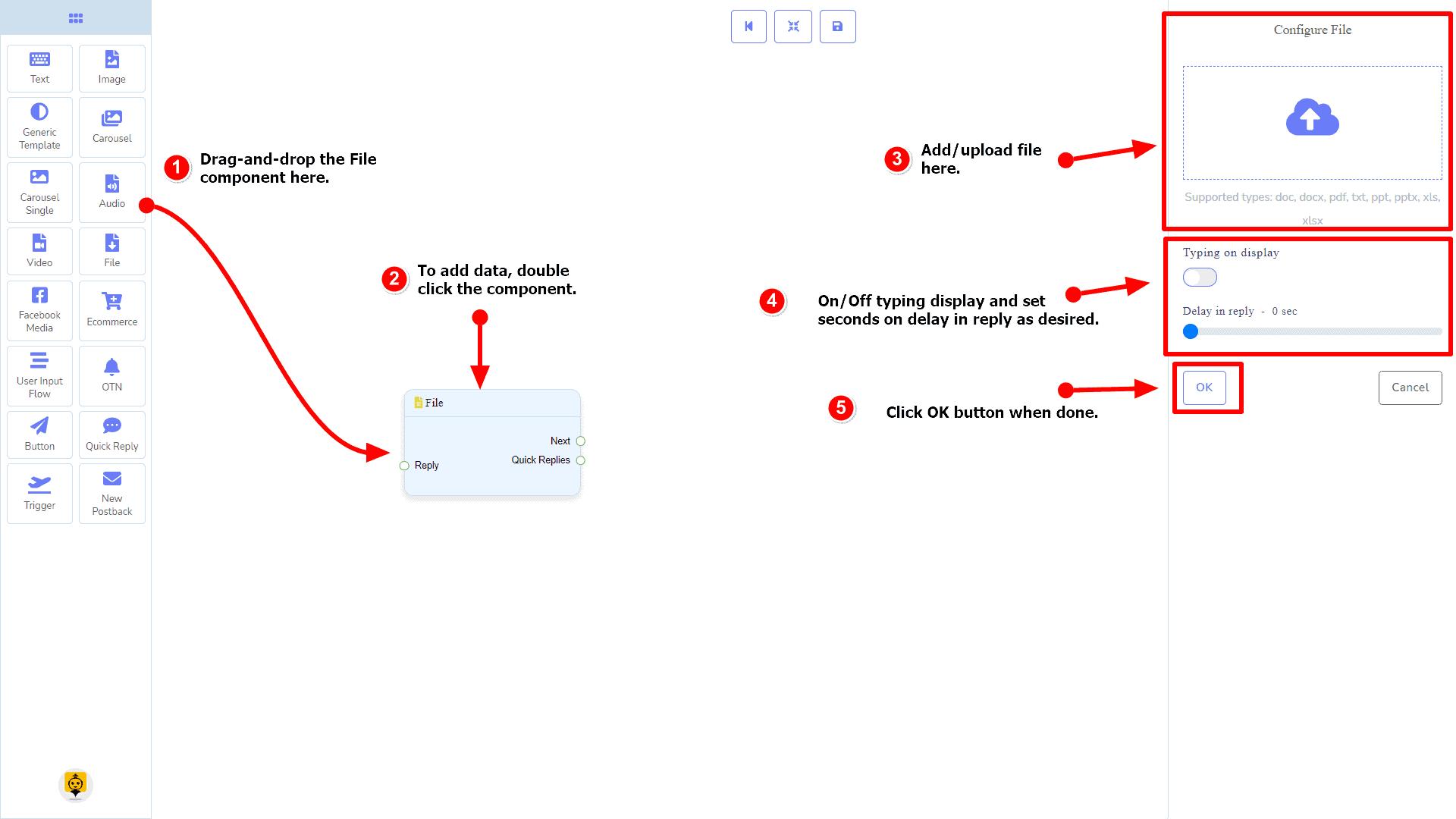 Messenger Bot - Visual Flow Builder 69