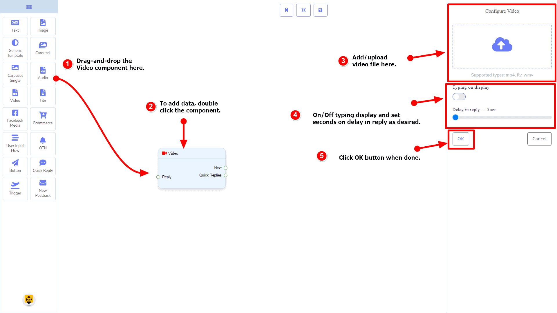 Messenger Bot - Visual Flow Builder 63