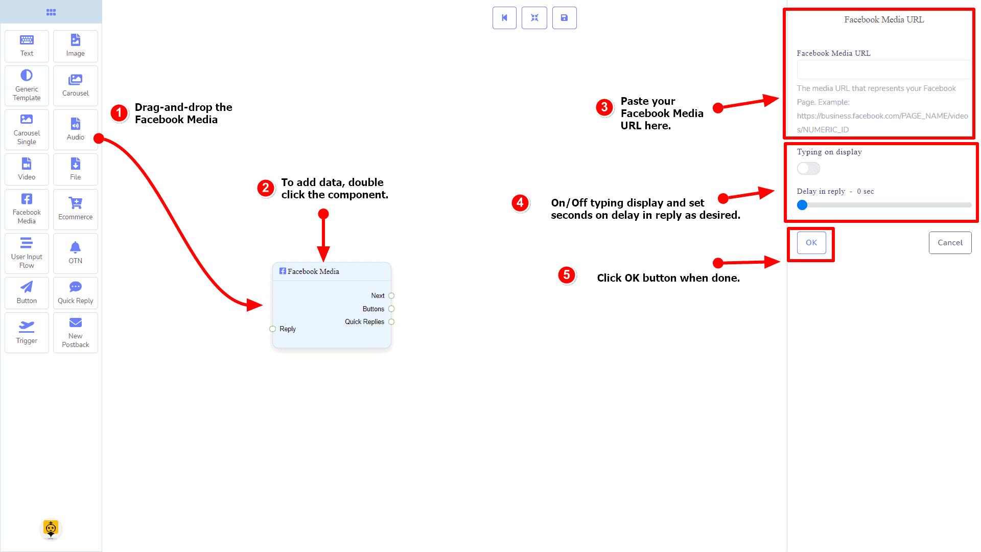 Messenger Bot - Visual Flow Builder 76