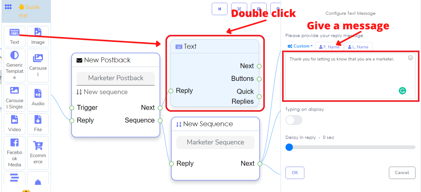 How To Send Sequence Messaging With Messenger Bot's Flow Builder 15