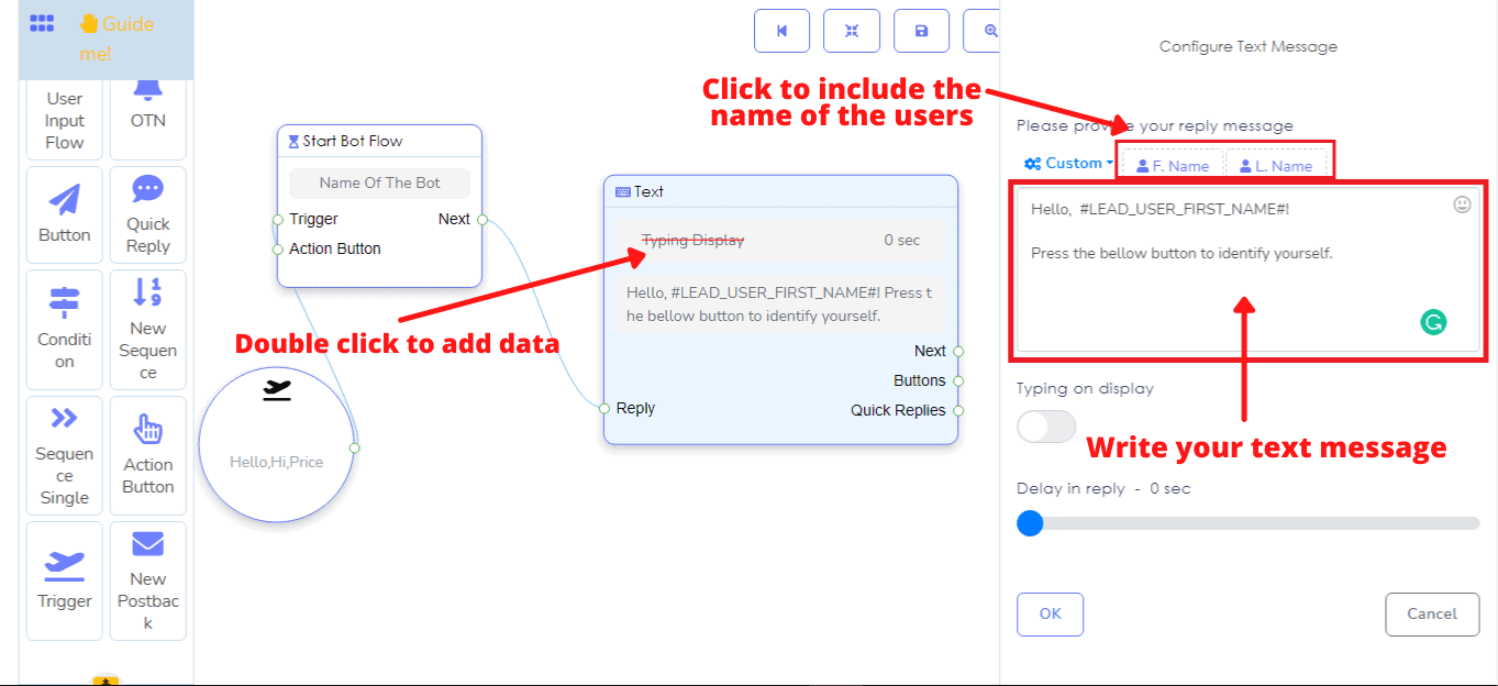How To Send Sequence Messaging With Messenger Bot's Flow Builder 5