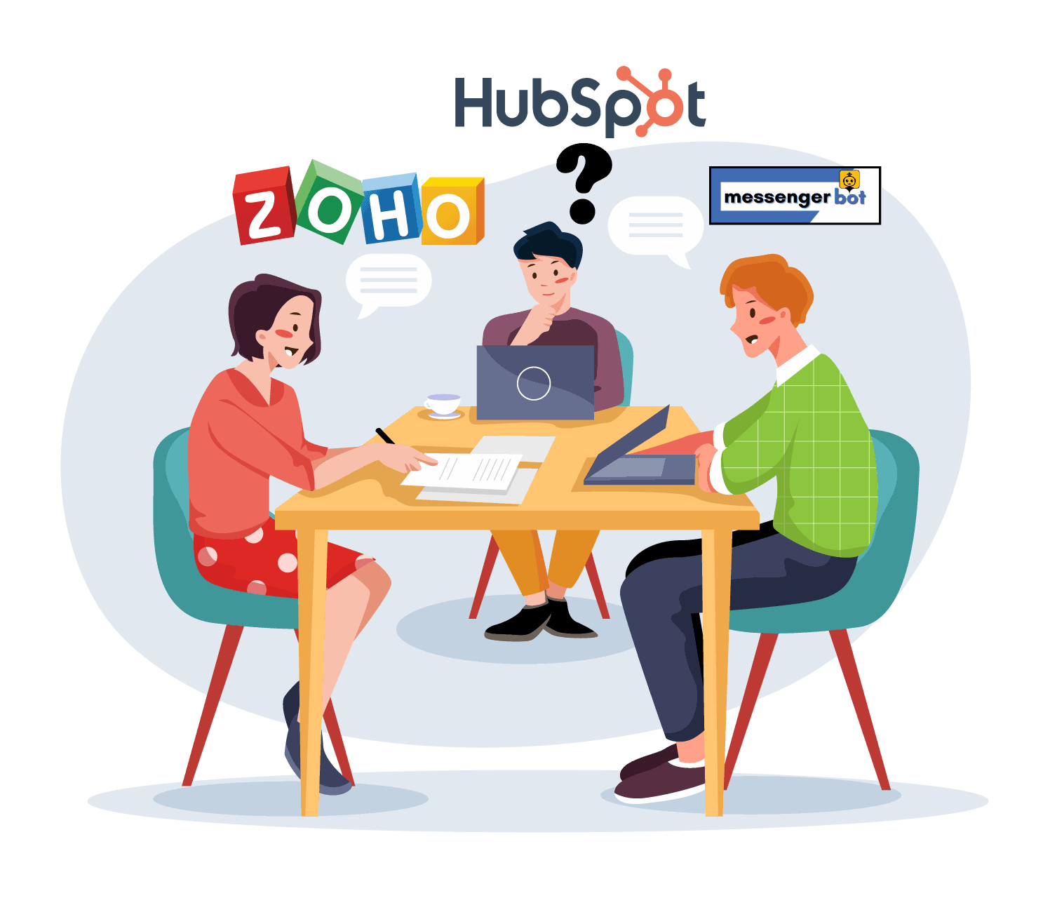 Zoho vs. Hubspot vs. Messenger Bot: Which Is Better? A Detailed Comparison For You To Choose The Right CRM Software 1