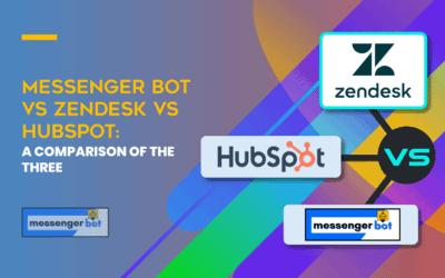 Messenger Bot vs Zendesk vs HubSpot: A Comparison of the Three