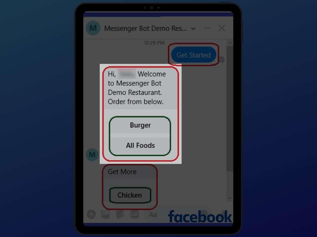 Messenger Bot Food Ordering Through Facebook Messenger 27