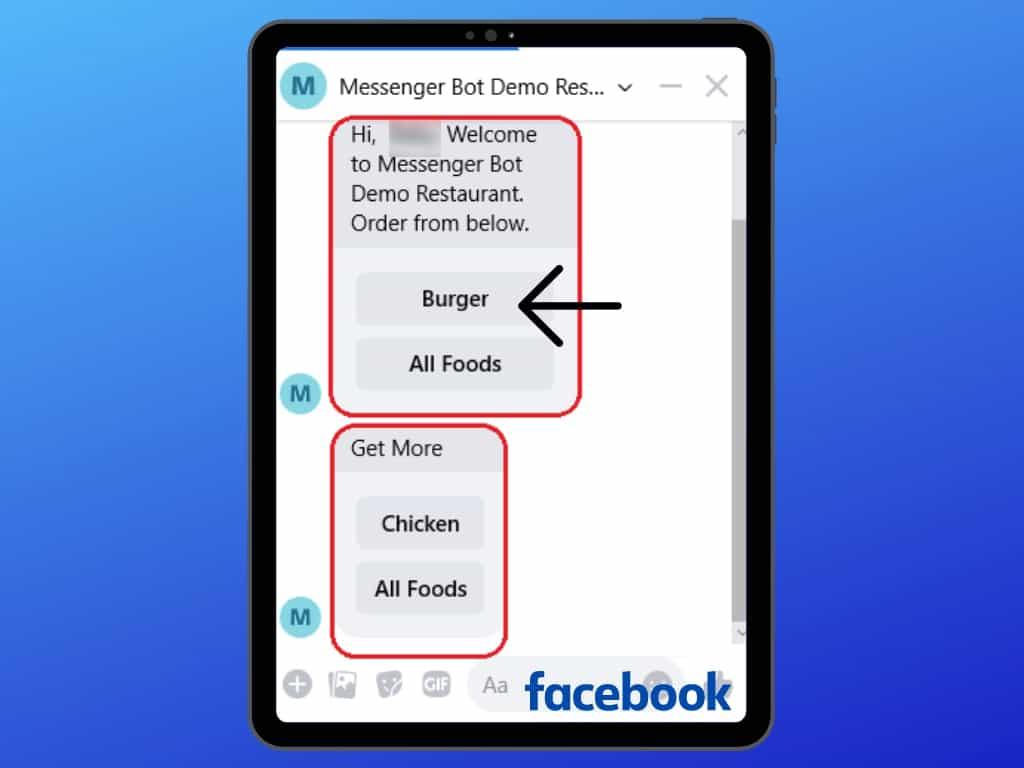 Messenger Bot Food Ordering Through Facebook Messenger 28
