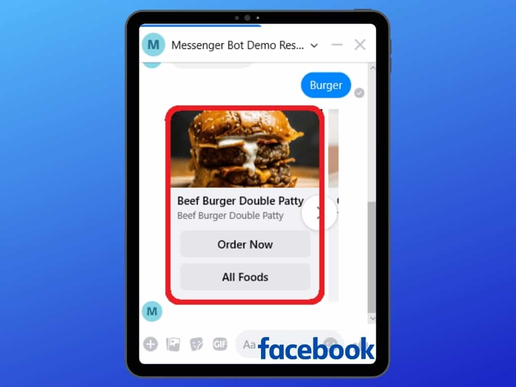 Messenger Bot Food Ordering Through Facebook Messenger 29