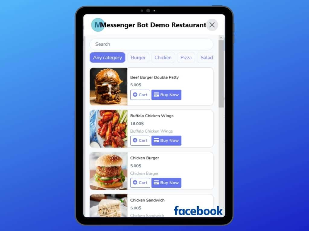 Messenger Bot Food Ordering Through Facebook Messenger 30