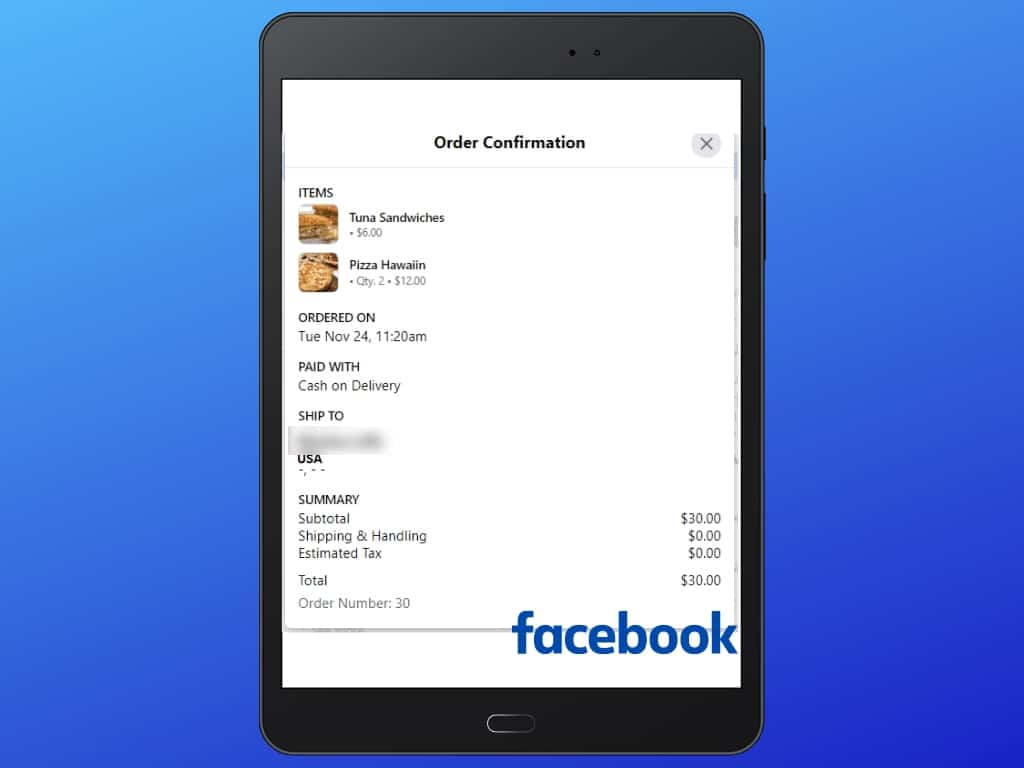 Messenger Bot Food Ordering Through Facebook Messenger 34